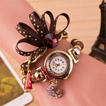 فروش ساعت , خرید ساعت مچی دخترانه , خرید ساعت زنانه , خرید اینترنتی ساعت بند پارچه ایی