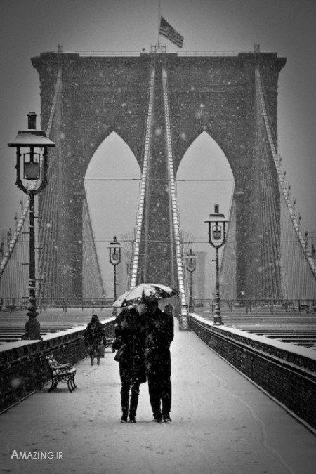 عاشقانه ,عکس عاشقانه ,تصویر عاشقانه روز برفی ,عکس عاشقانه روزای برفی ,عکس رمانتیک
