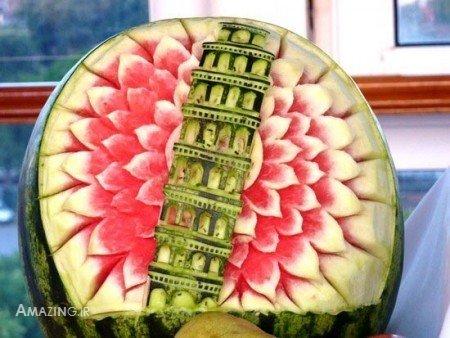 تزئین هندوانه شب یلدا ,تزیین هندوانه شب یلدا, تصاویر تزیین هندوانه شب یلدا, آموزش تزیین هندوانه شب یلدا