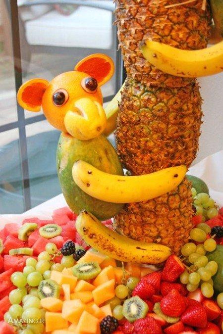 میوه آرایی شب یلدا , سفره آرایی شب یلدا , تزیین میوه شب یلدا , آموزش تزیین سبزیجات, تزیین میوه روی میز