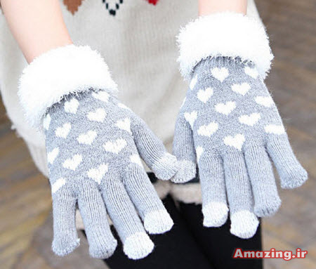 دستکش بافتنی کره ایی , مدل دستکش بافتنی , دستکش بافتنی دخترانه , دستکش بافتنی 2015
